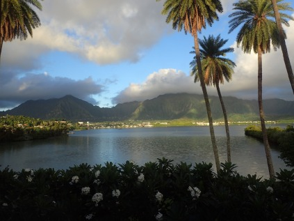 View of the Bay in the morning from the Lanai Suites on Moku o Lo'e.