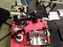 The camera rigs.